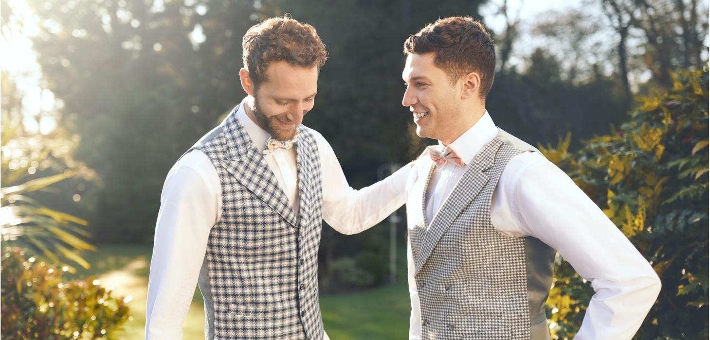 Garden Wedding | Luxurious Linen Suits