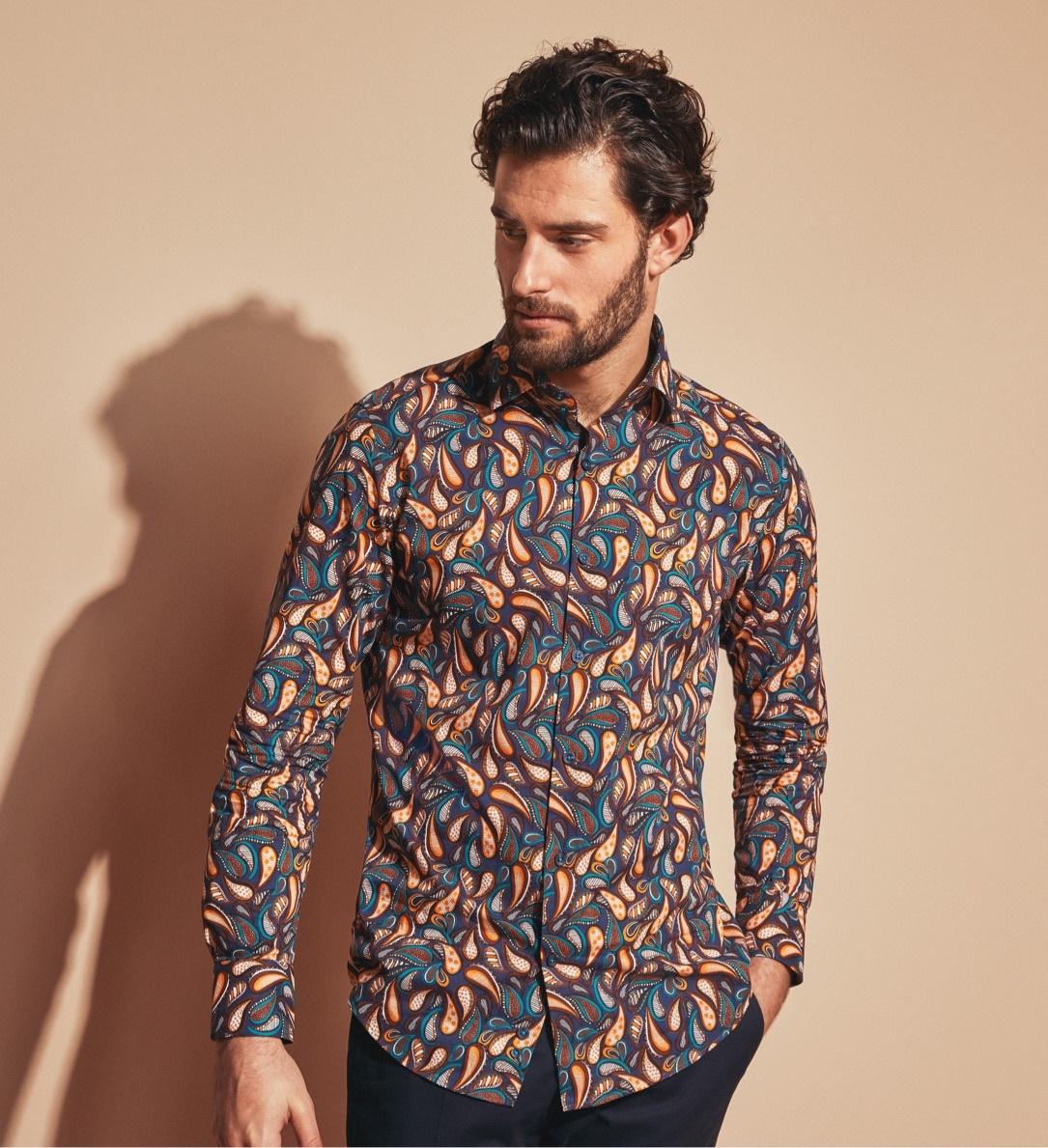 Freizeithemden mit verrückten Mustern und Prints online kaufen.