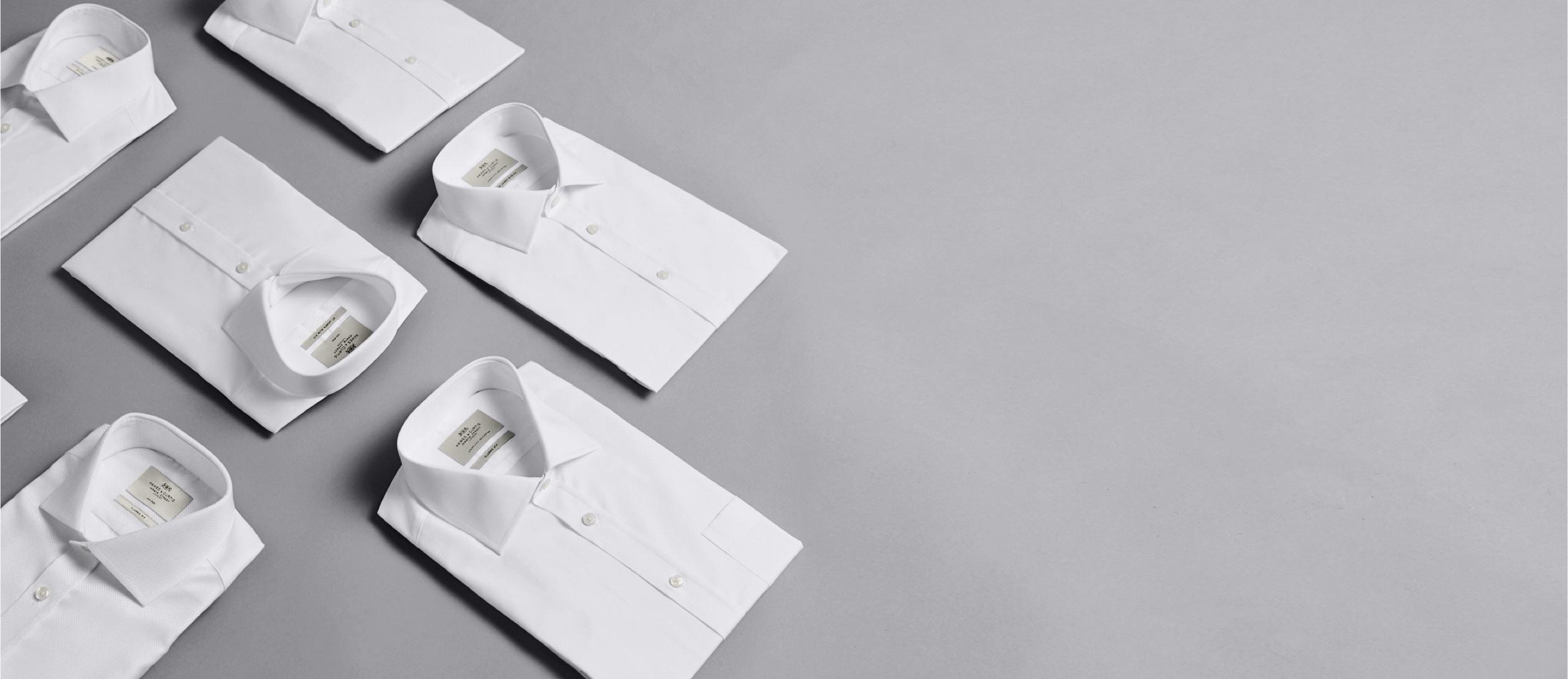 Edle Blusen in weiß und in Markenqualität von Hawes & Curtis aus London.