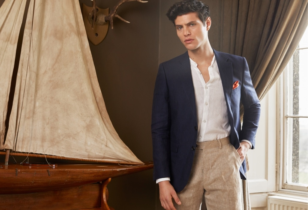 Men linen suits Collection | Hawes and Curtis