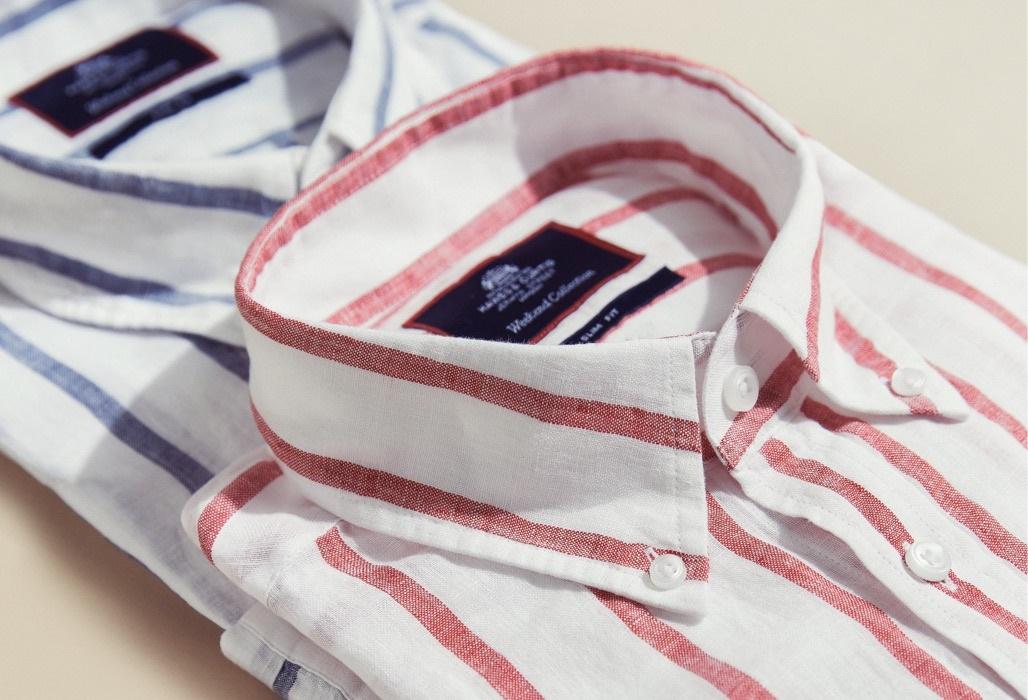 Leinenhemden für Herren   Hawes & Curtis