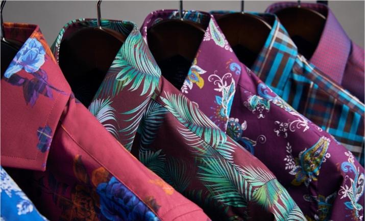 Freizeithemden mit außergwöhnlichen Mustern und Paisleyprints von Hawes & Curtis.