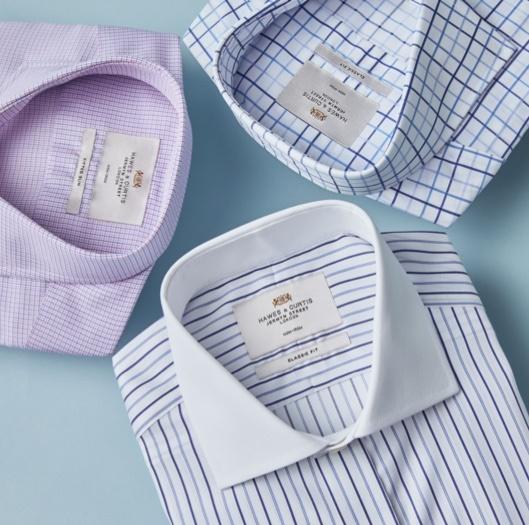 Edle Businesshemden aus Baumwolle von Extra Slim Fit bis Classic Fit von Hawes & Curtis.