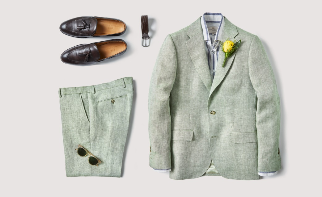Men's Green Green Suits | Hawes and Curtis