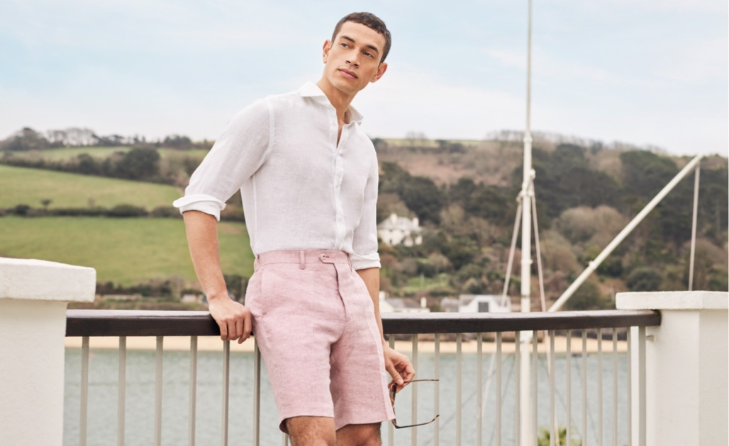 Mens Linen Short | Hawes and Curtis