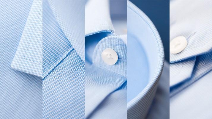 Hemden Webart Basket Weave Korbgeflecht Stoff