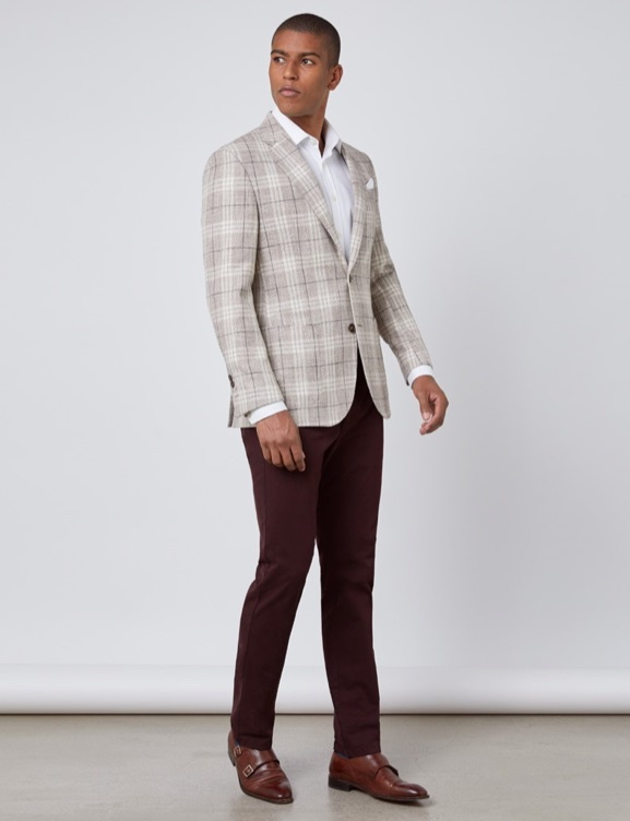 Luxurious Italian Wool Fabric Blazers - Hawes & Curtis