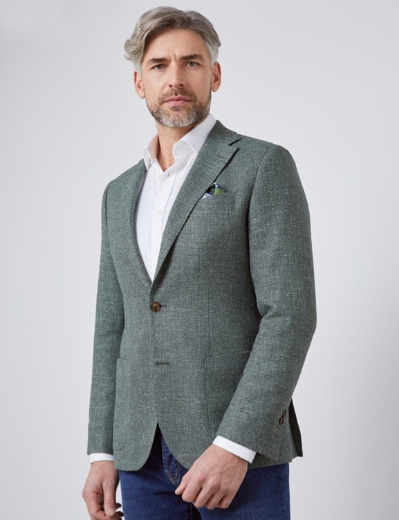 Luxurious Italian Wool Fabric Outerwear - Hawes & Curtis