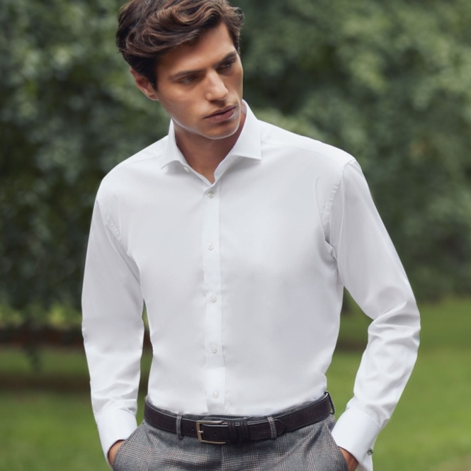 Mens White Shirt | Hawes & Curtis | USA
