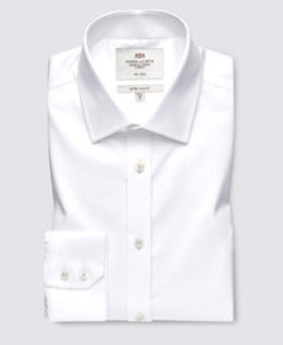 White Twill Shirt for Men | Hawes & Curtis | UK