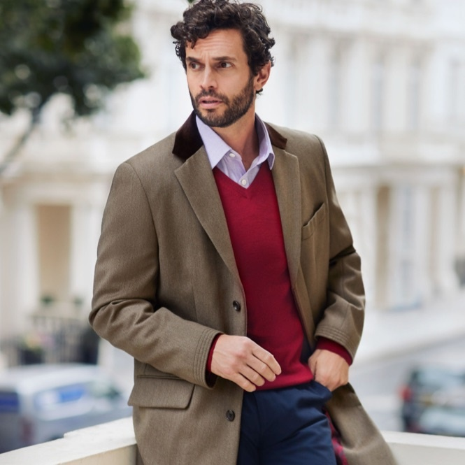Mens Overcoat | Hawes & Curtis | USA