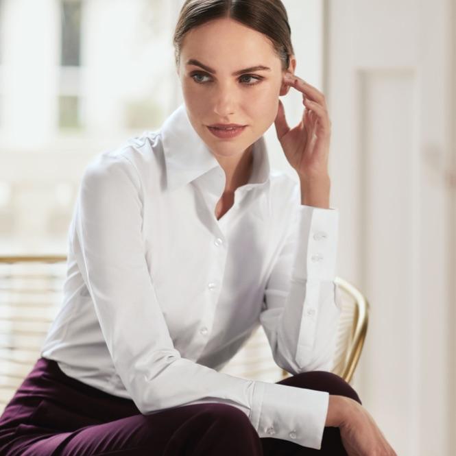 Womens White Shirt | Hawes & Curtis | UK