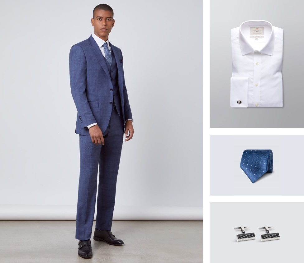 Men navy suit | Hawes and Curtis