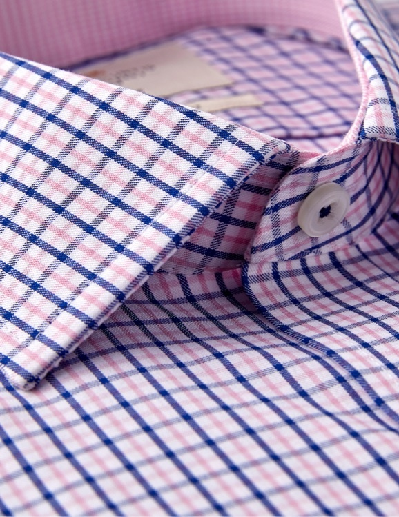 Hawes and Curtis Casual Shirts - colourful trims and contrast detail inside the collars