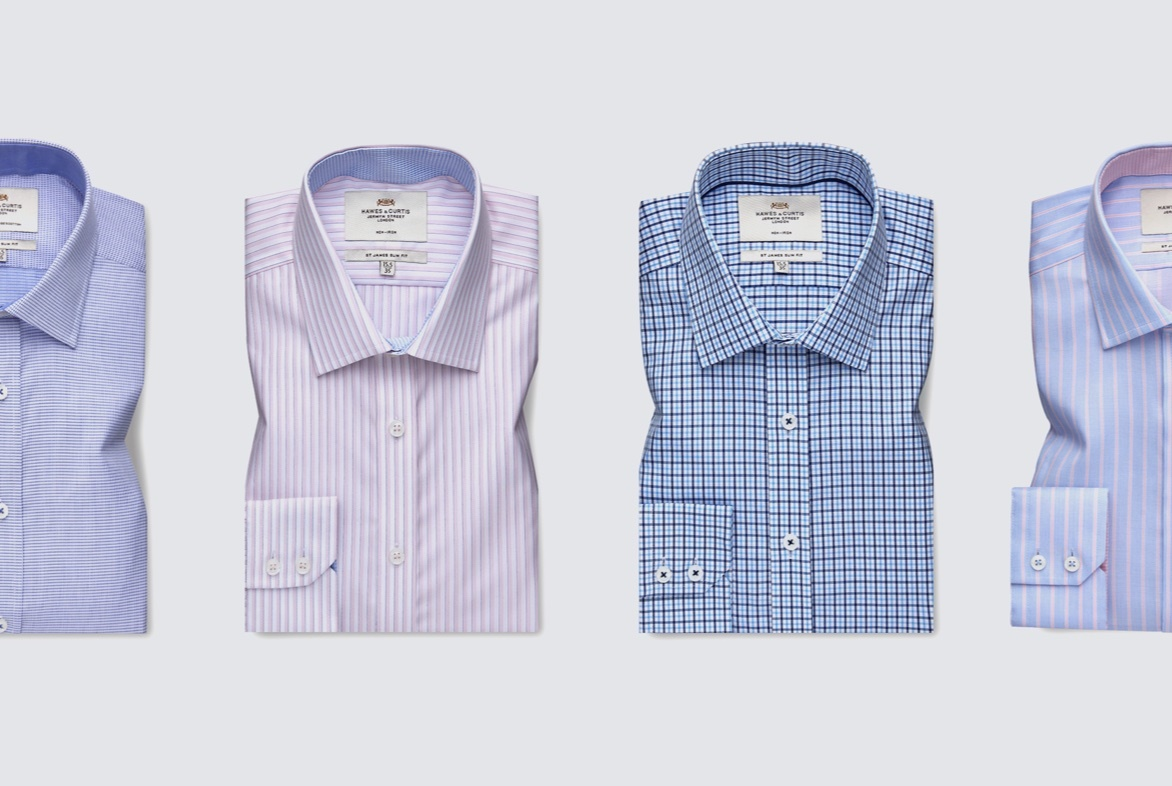 Business Casual Shirt with Design Twists for Men - Hawes & Curtis