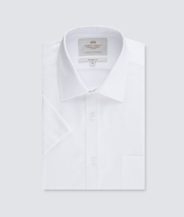 Smart Short Sleeve Shirt   Hawes and Curtis