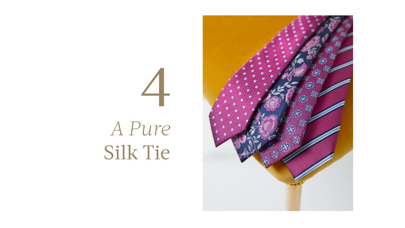 A pure silk tie for father