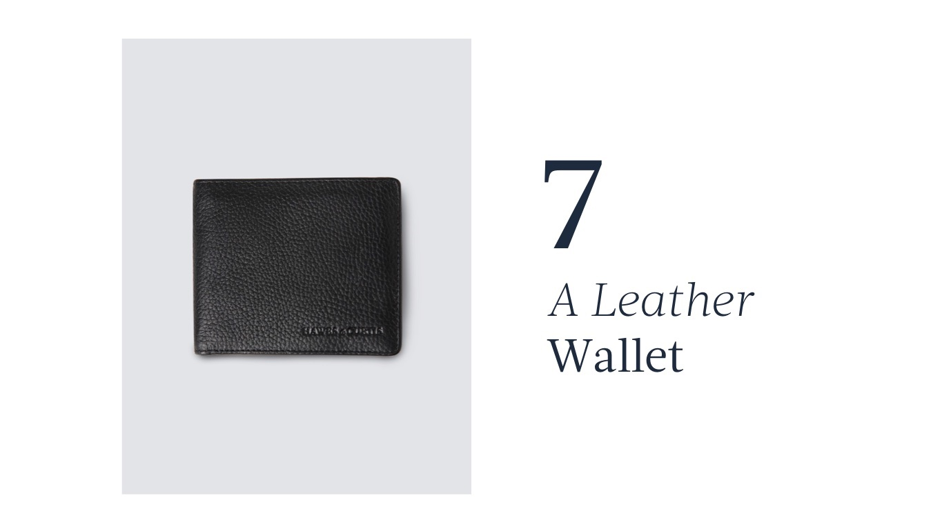 Leather wallet for father