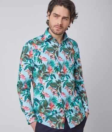 Floral men shirt | Hawes and Curtis