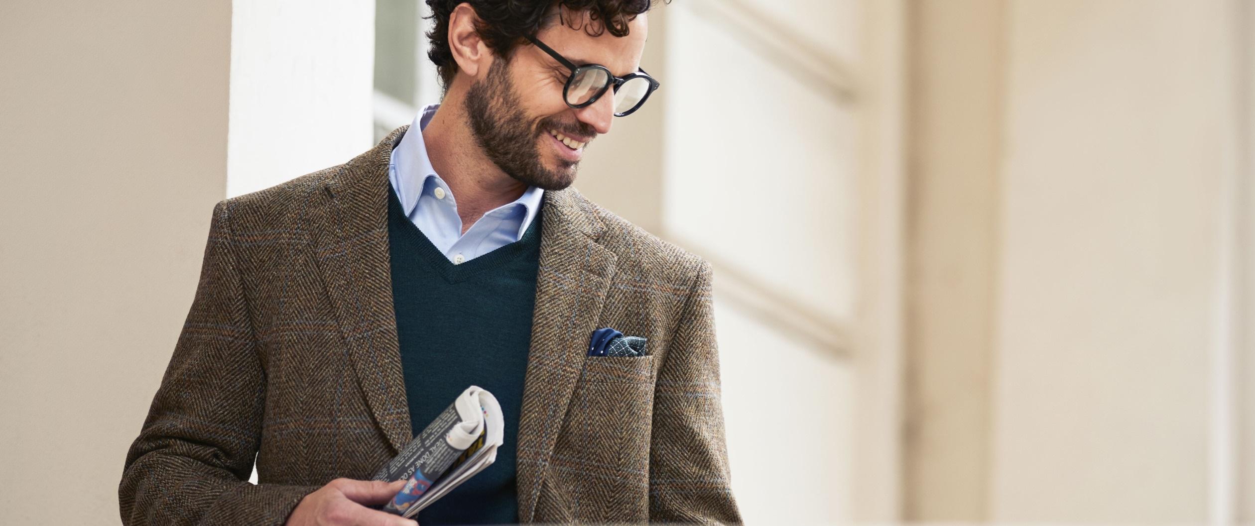 Merino Wool Blazer for Men | Hawes & Curtis