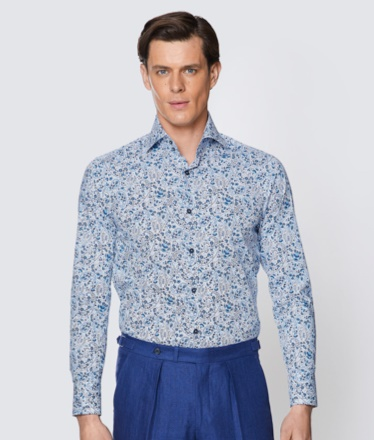 Floral men shirt   Hawes and Curtis