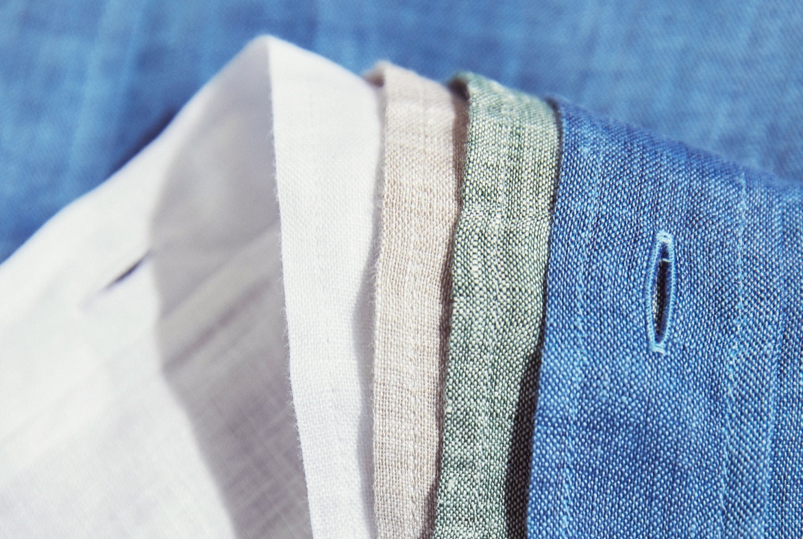 Linen fabric from Hawes and Curtis