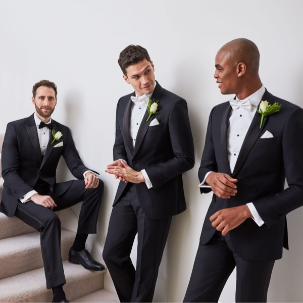 Mens in wedding suits - Hawes & Curtis