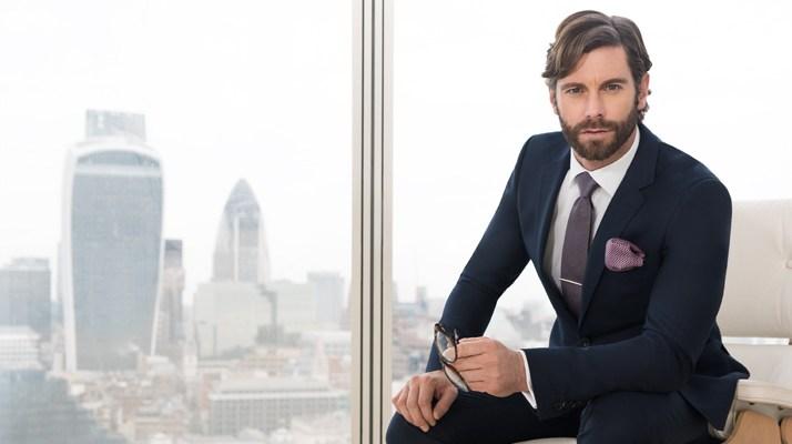David Blakely Jack Guiness Anzug Businessmode