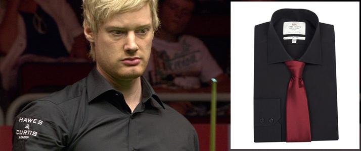 Schwarze Hemden mit Kent Kragen bei der Billiard WM.