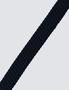 Men's Navy Plaited Stretch Belt