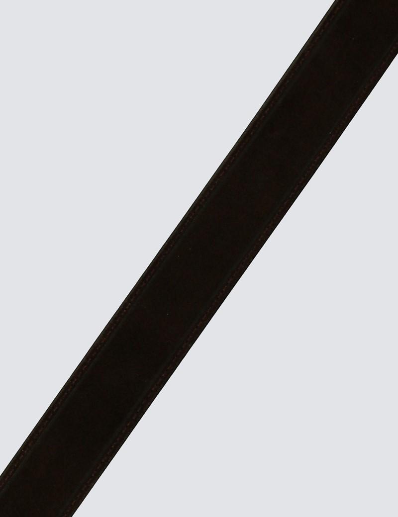 Wildleder Gürtel – braun – silberne Schnalle