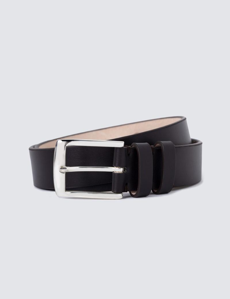 Men's Brown Plain Leather Belt