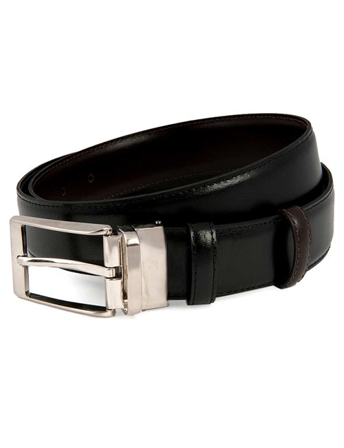 Men's Reversible Black & Brown Leather Belt