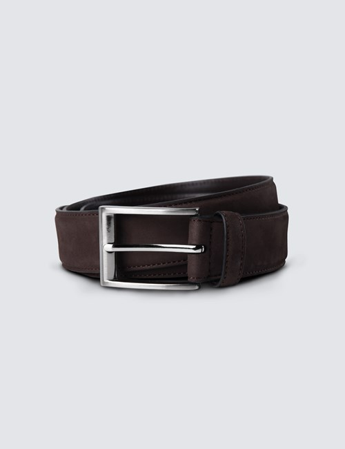 Men's Brown Suede Belt