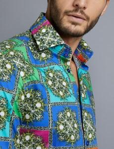 Casual Hemd – Slim Fit – Opulentes Muster