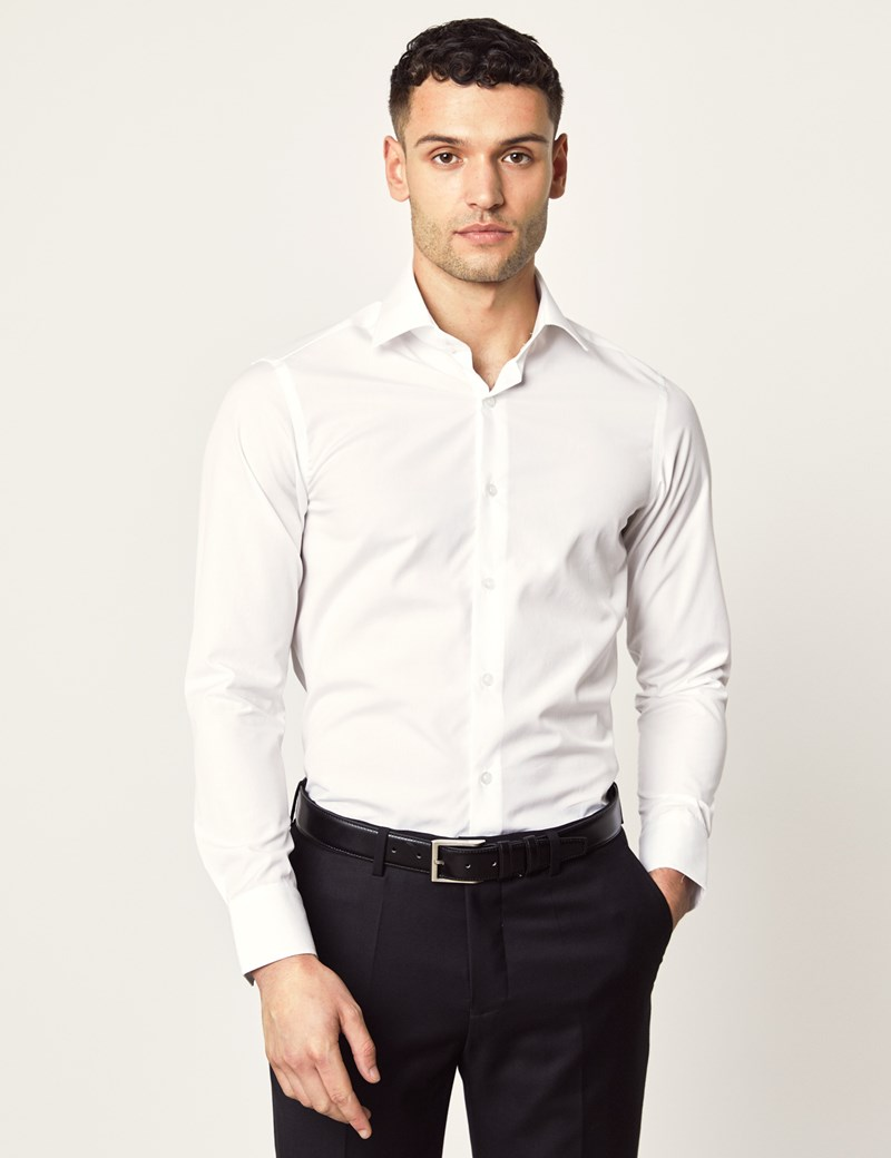 Casual Hemd – Slim Fit – Brandon – Kent Kragen – Weiß