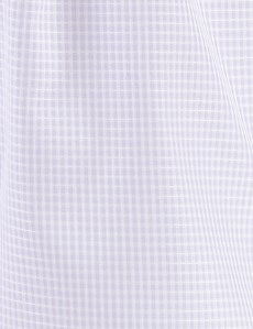 Men's Lilac & White Small Squares Cotton Boxer Shorts
