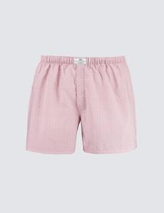Men's Red Star Print Cotton Boxer Shorts