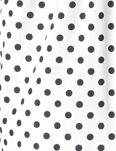 Men's White & Black Big Spots Cotton Boxer Shorts