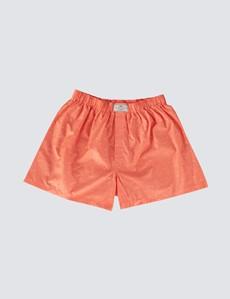 Men's Orange Palm Tree Cotton Boxer Shorts