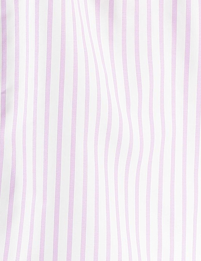 Men's Lilac & White Stripe Cotton Boxer Shorts