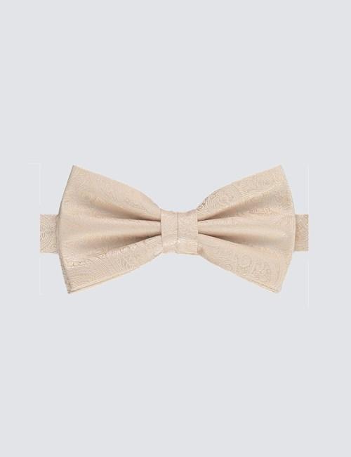Hochzeits Kollektion – Vorgebundene Fliege – Seide – Cremefarben