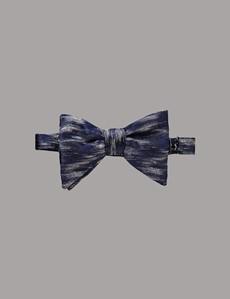 Men's Blue Shaded Bow Tie - 100% Silk