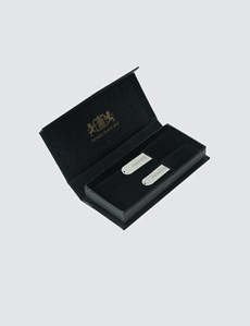 Men's Rhodium Collar Stiffeners