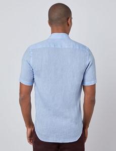 Leinenhemd – Kurzarm – Tailored Fit – hellblau
