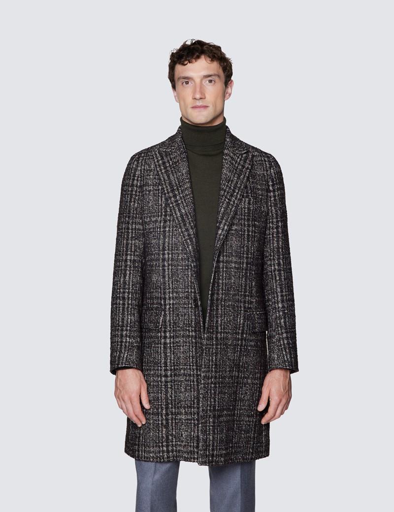 Men's Brown Italian Wool Blend Overcoat – 1913 Collection