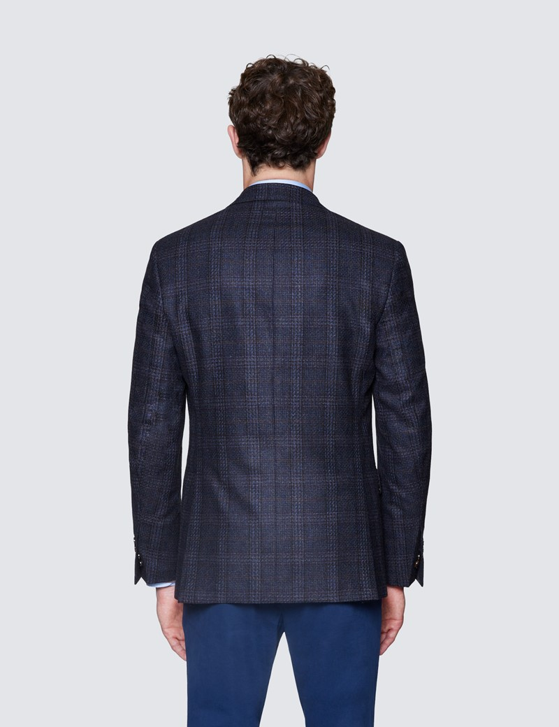 Men's Brown Check Italian Wool Jacket - 1913 Collection