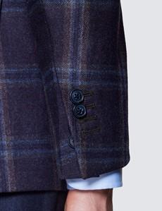 Men's Purple Check Italian Wool Jacket - 1913 Collection