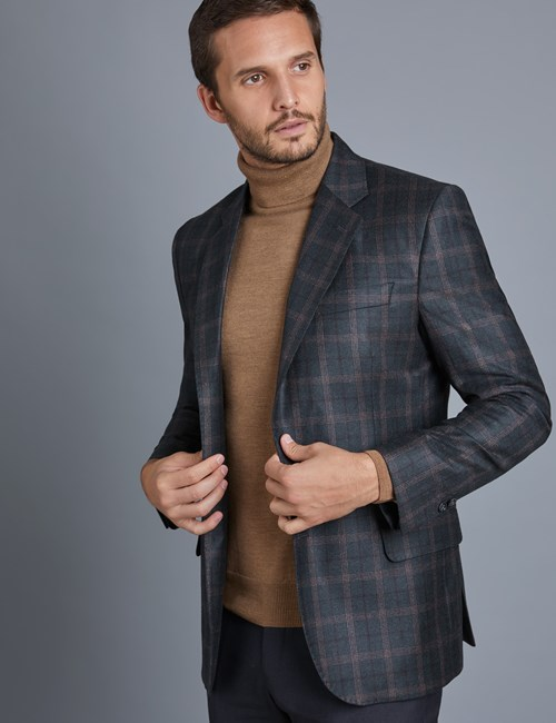 Men's Green Check Wool Jacket - 1913 Collection