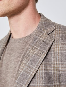 Men's Brown Over Plaid Italian Wool Jacket – 1913 Collection